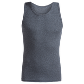 Bild: p2 Cotton Men Rib Tanktop dark grey-mele