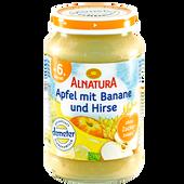 Bild: ALNATURA Apfel mit Banane und Hirse