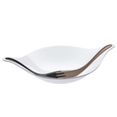Bild: KOZIOL Salatschale LEAF mit Besteck weiß/schwarz