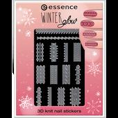 Bild: Essence Winter Glow 3D Knit Nail Stickers