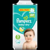 Bild: Pampers Baby-Dry Giga Pack Gr. 5 (11-23 kg)