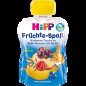 Bild: HiPP Früchte-Spaß Himbeere-Traube in Apfel-Banane mit Hafer