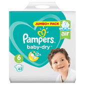 Bild: Pampers Baby-Dry Baby Dry Gr. 6 (15+kg) Jumbo Plus Pack