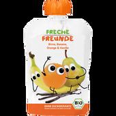 Bild: Freche Freunde Quetschbeutel Orange & Vanille