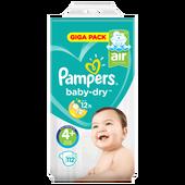 Bild: Pampers Giga Pack Gr. 4+ (9-18 kg)