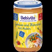 Bild: Bebivita Gemüse und Hühnchen mit Nudeln