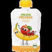 Bild: Freche Freunde Quetschbeutel Apfel, Banane & Himbeere