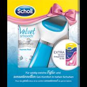 Bild: Scholl Velvet Smooth Express Pedi Blau+High Heels Einlegesohle