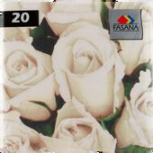 Bild: FASANA Serviette Eleant White Rose