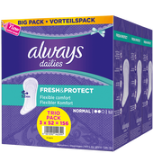Bild: always Fresh & Protect Slipeinlagen normal Vorteilspack