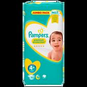 Bild: Pampers premium protection Gr. 4+ (9-18kg) Jumbopack