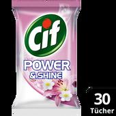 Bild: Cif Allzwecktücher Power&Shine anti-bakteriell Pink Lily