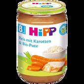 Bild: HiPP Reis mit Karotten und Bio-Pute