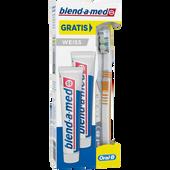 Bild: blend-a-med Doppelpackung Zahncreme Weiss + Zahnbürste gratis