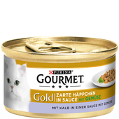 Bild: GOURMET Gold Zarte Häppchen in Sauce mit Kalb & Gemüse