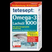 Bild: tetesept: Omega-3 Lachsöl 1000 Kapseln