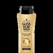 Bild: Schwarzkopf GLISS KUR Hair Repair Ultimate Oil Elixir Shampoo mini