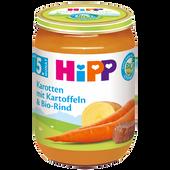 Bild: HiPP Karotten mit Kartoffeln und Bio-Rind