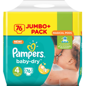 Bild: Pampers Baby-Dry Gr. 4+ (9-18kg) Jumbo+ Pack