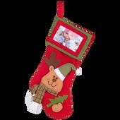 Bild: Weihnachtsstrumpf mit Fotorahmen