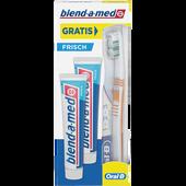 Bild: blend-a-med Doppelpackung Zahncreme Frisch + Zahnbürste gratis