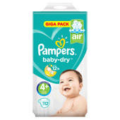 Bild: Pampers Giga Pack Gr. 4+ (9-18 kg)