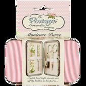 Bild: The Vintage Cosmetic Company Manikürset pink gestreift