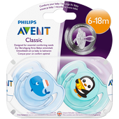 Bild: PHILIPS AVENT Schnuller Klassik Sea 6-18M 2er Pack Boys