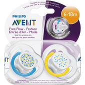 Bild: PHILIPS AVENT Schnuller Freeflow Fashion 6-18M Boys