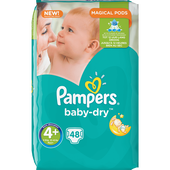 Bild: Pampers Baby-Dry Gr. 4+ (9-18kg) Big Bag