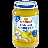 Bild: ALNATURA Kürbis mit Kartoffeln und Huhn
