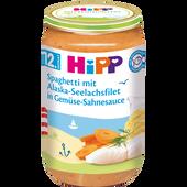 Bild: HiPP Spaghetti mit Alaska-Seelachsfilet in Gemüsesahnesauce