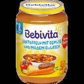 Bild: Bebivita Kartoffeln mit Gemüse und mildem Gulasch
