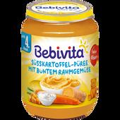 Bild: Bebivita Süßkartoffel-Pürree mit buntem Rahmgemüse