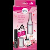 Bild: Veet Senstive Precision Beauty Styler + gratis Manhattan Eye Brow Gel