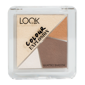 Bild: LOOK BY BIPA Colour Explosion Quattro Shadows caramel cookie