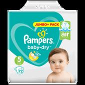 Bild: Pampers Baby-Dry Gr. 5 (11-23kg) Jumbo+ Pack