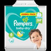 Bild: Pampers Baby-Dry Baby Dry Gr. 6 (15+kg) Jumbo+ Pack