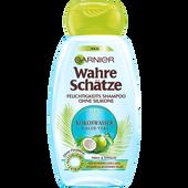 Bild: GARNIER Wahre Schätze Shampoo Kokoswasser & Aloe Vera