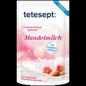 Bild: tetesept: Creme & Schaum Badesalz Mandelmilch