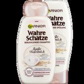 Bild: GARNIER Wahre Schätze Hafermilch Shampoo + Spülung