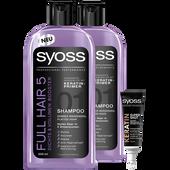 Bild: syoss PROFESSIONAL Shampoo Full Hair 5 Duo + Sofort Kur Shot
