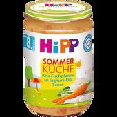 Bild: HiPP Sommer Küche Reis-Fischpfanne an Joghurt-Dill Sauce
