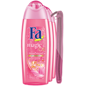 Bild: Fa Dusche Trio  Magic Oil Pinker Jasmin + Bikinibag