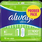 Bild: always ultra Binde Normal Probierpack