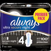Bild: always ultra secure night Binde mit Flügeln