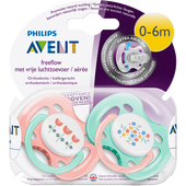 Bild: PHILIPS AVENT Schnuller Vintage Freeflow 0-6M (Girls)