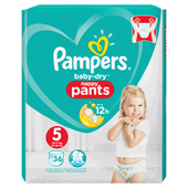 Bild: Pampers Baby-Dry Nappy Pants Gr. 5 (12-17kg) Value Pack