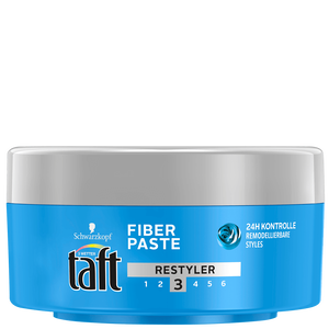 Bild: Schwarzkopf 3 WETTER taft Fiber Paste Restyler