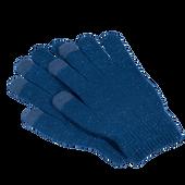 Bild: LOOK BY BIPA Smartphone Handschuhe blau mit Lurex